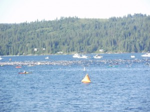 More than 2,000 participants hit the water for the 2.4 mile swim